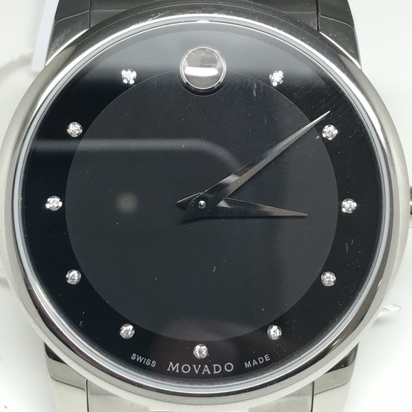 41eb1f2ea7e Movado men Swiss museum classic diamond accent